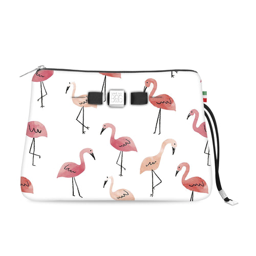 Travel Pouch Large* Pink flamingo
