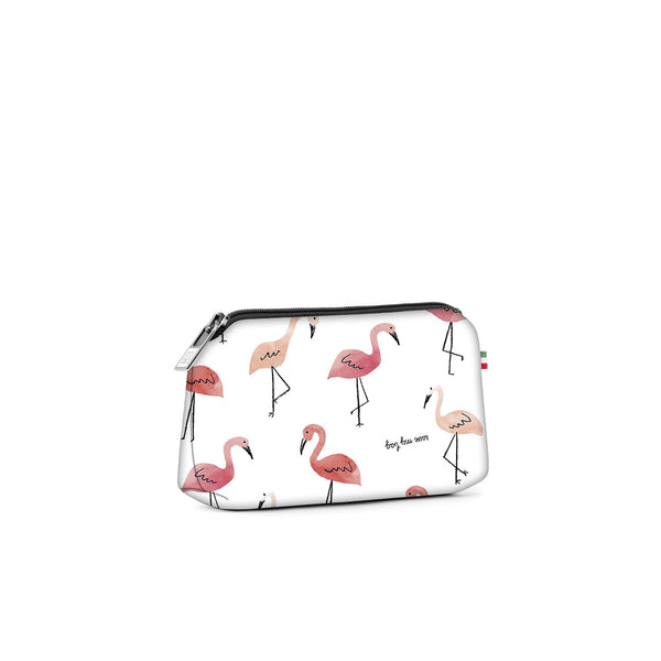 Small travel pouch* PINK FLAMINGO