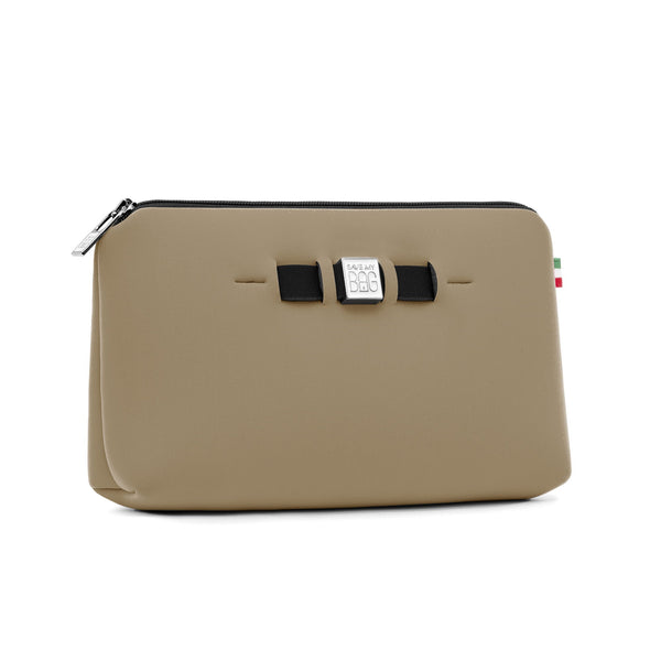 Medium travel pouch* TOFFEE MET/METALLIC CAPPUCCINO