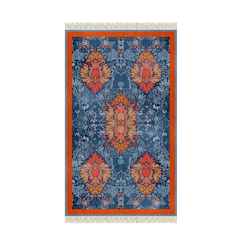 Large Poly-carpet Arancio azzurro/orange lightblue*