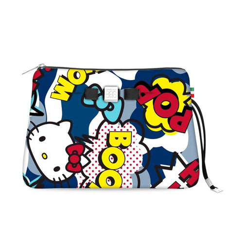 Travel Pouch Large* Hello Kitty Comic Blue