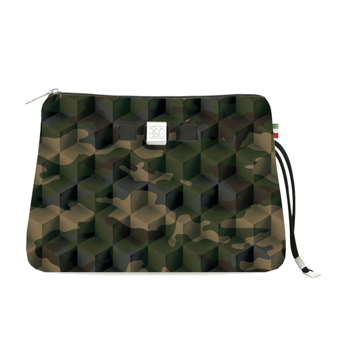 Travel Pouch Large* Camouflage Green