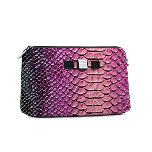 Medium Travel Pouch* Python Rosa