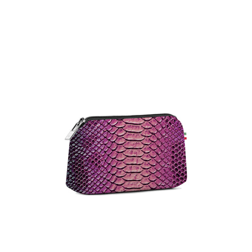 Small Travel Pouch* Python Rosa