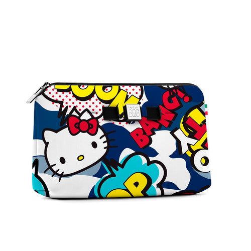 Medium travel pouch* HELLO KITTY COMICS BLUE