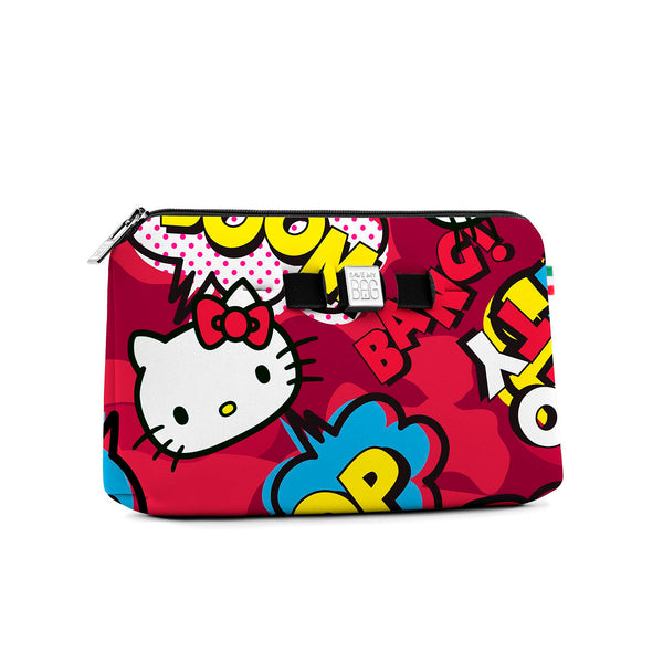 Medium travel pouch* HELLO KITTY COMICS RED