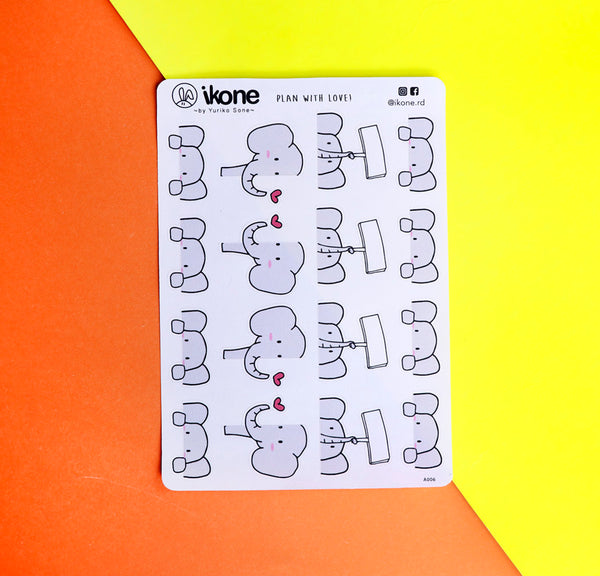 Ikone Stickers Plan With Love By Yuriko Sone