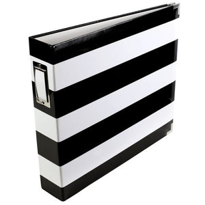 Black and White Stripe Album 12x12in-PL