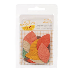 Paper leaves shapes 12 pc