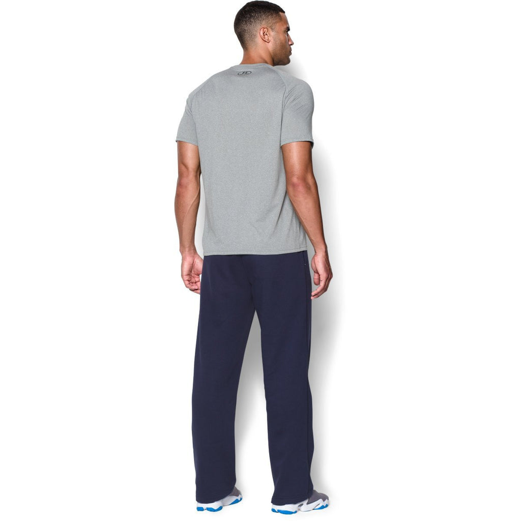 Under Armour Men's Midnight Navy/White Team Rival Fleece Pant