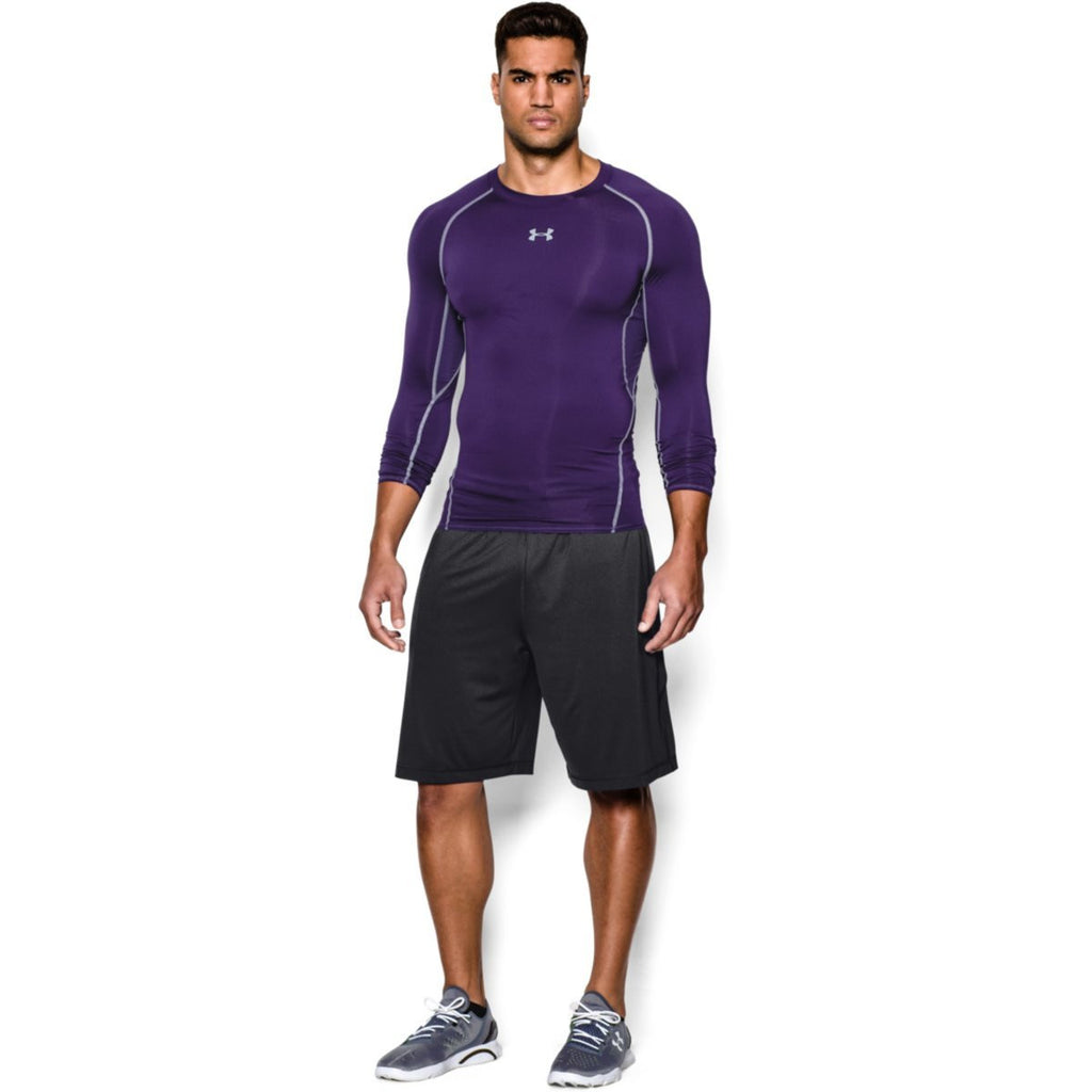 Under Armour Men's Purple HeatGear Armour L/S Compression Shirt