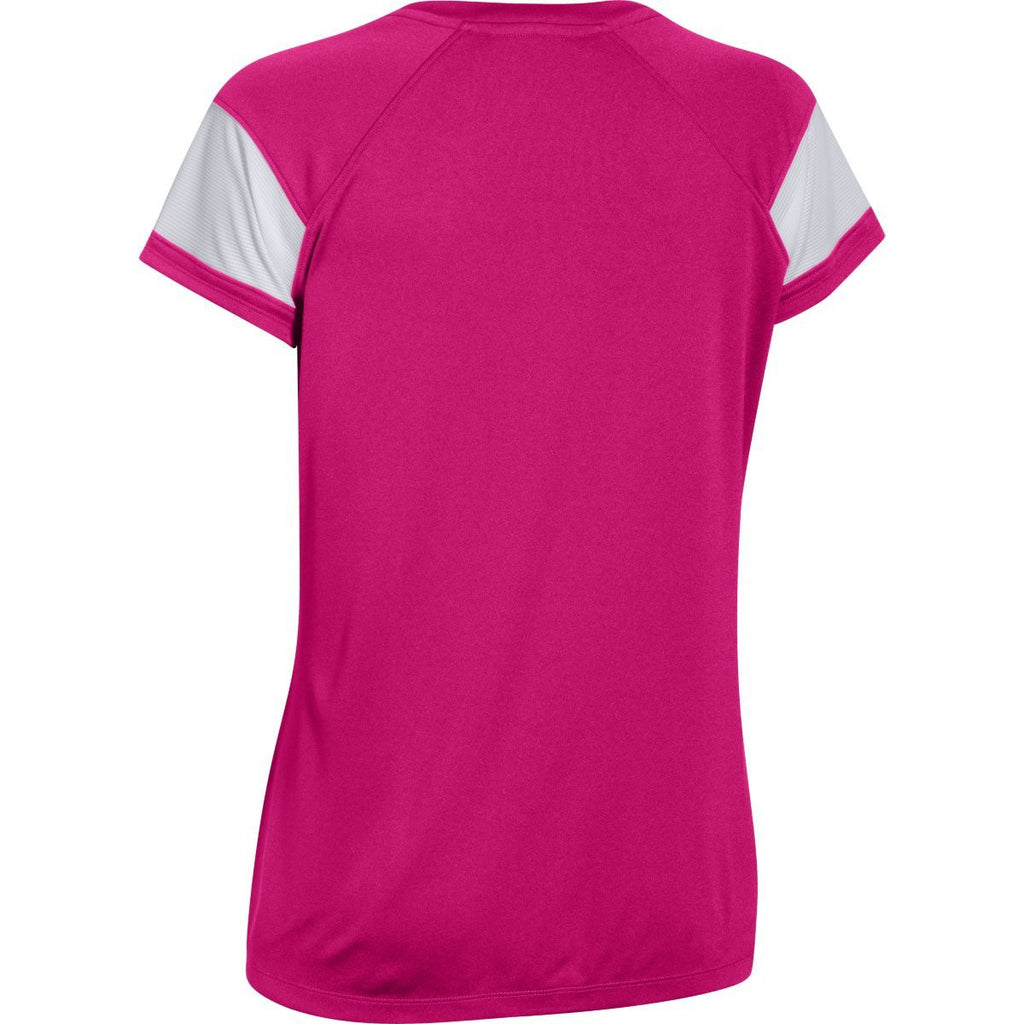 Under Armour Women's Tropic Pink Zone S/S T-Shirt
