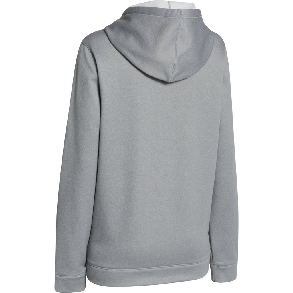 Under Armour Women's True Gray Heather/Black Storm AF FZ Hoody
