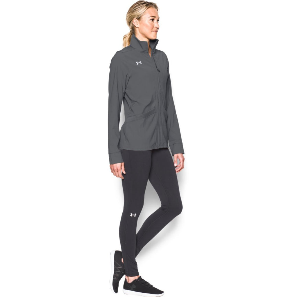Under Armour Women's Graphite Pre-Game Woven Jacket
