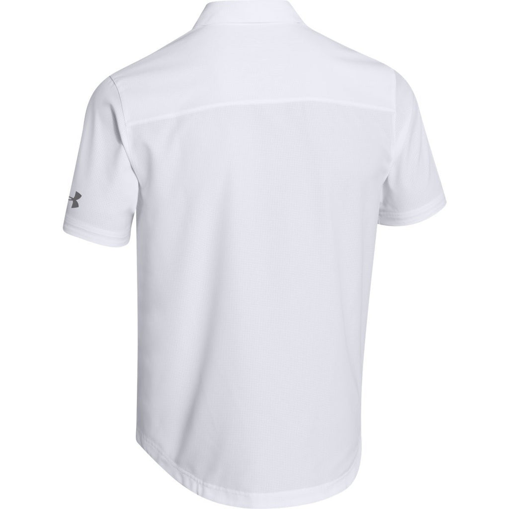 Under Armour Men's White Ultimate S/S Button Down Shirt