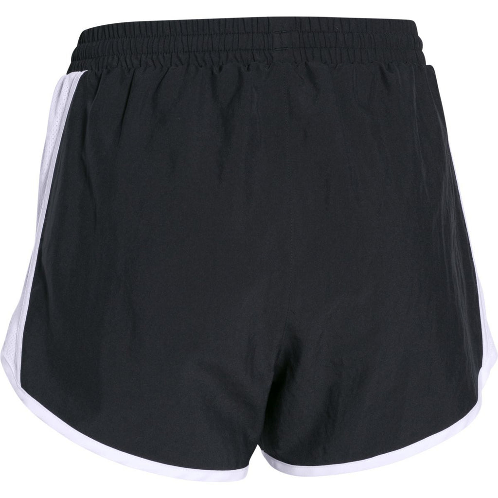 Under Armour Women's Black-White-Reflective Fly By Short