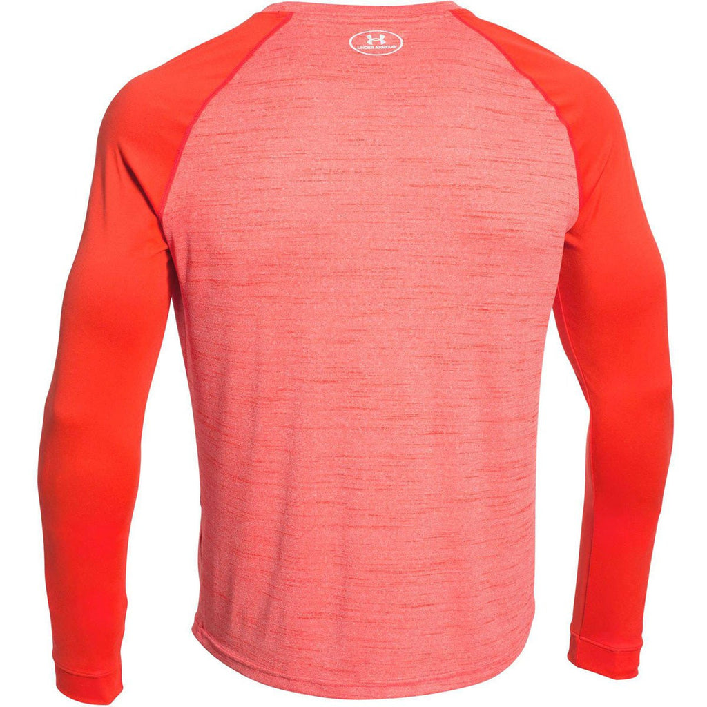 Under Armour Men's Dark Orange Novelty Locker Long Sleeve Tee