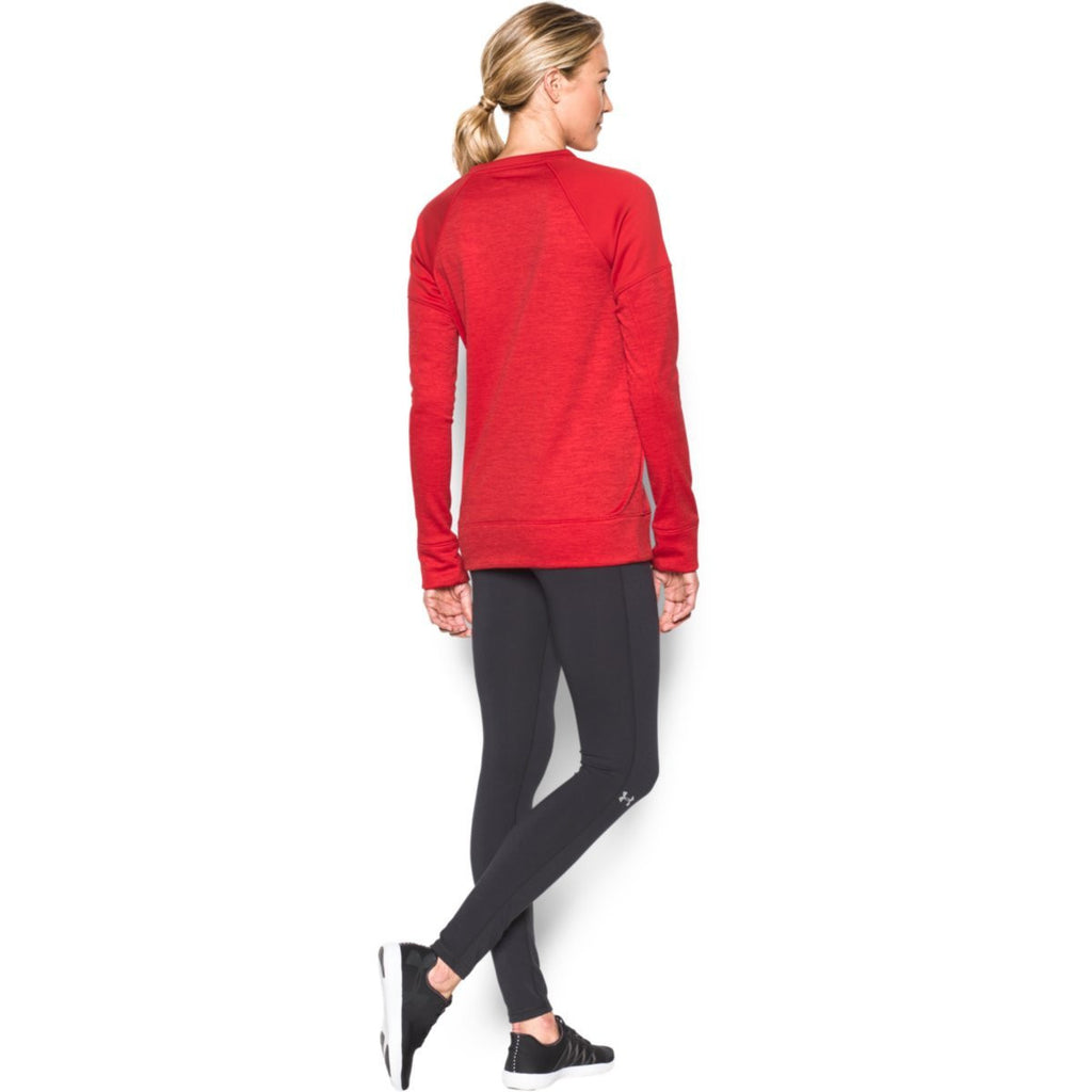Under Armour Women's Red Novelty Armour Fleece Crew