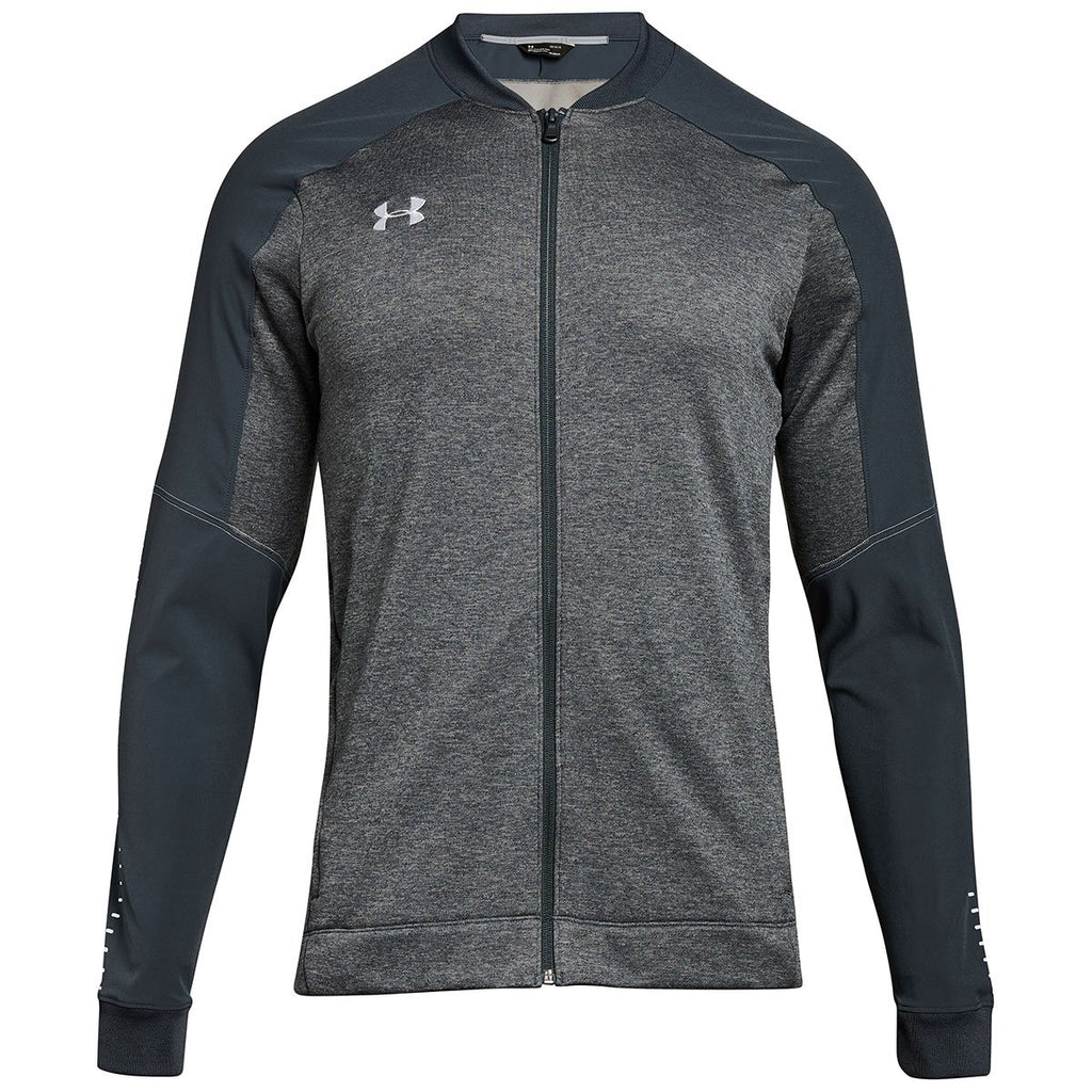 dd36fb3f5203e Under Armour Men s Stealth Grey Qualifier Hybrid Warm-Up Jacket
