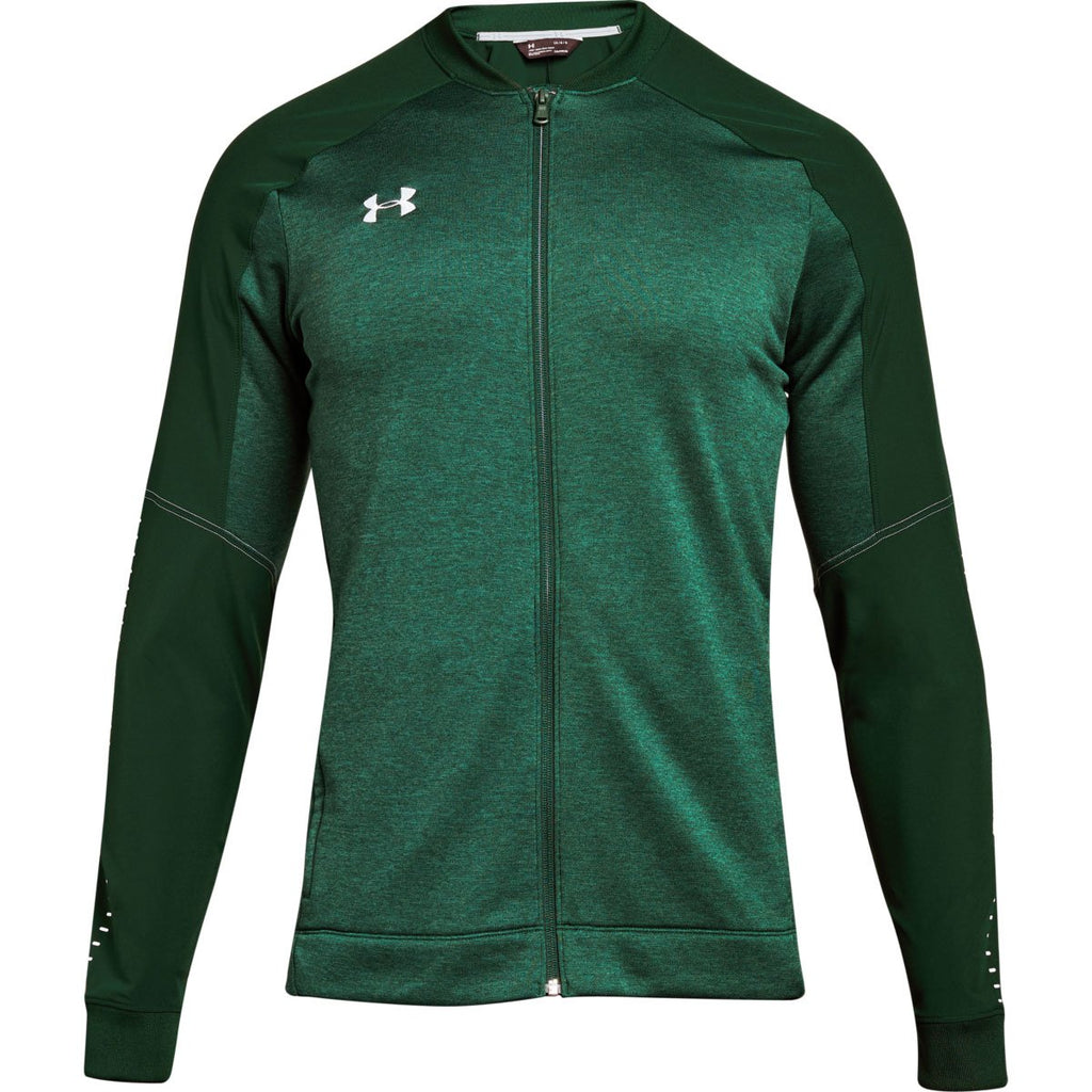 93cafa88e0ee5 Under Armour Men s Forest Green Qualifier Hybrid Warm-Up Jacket