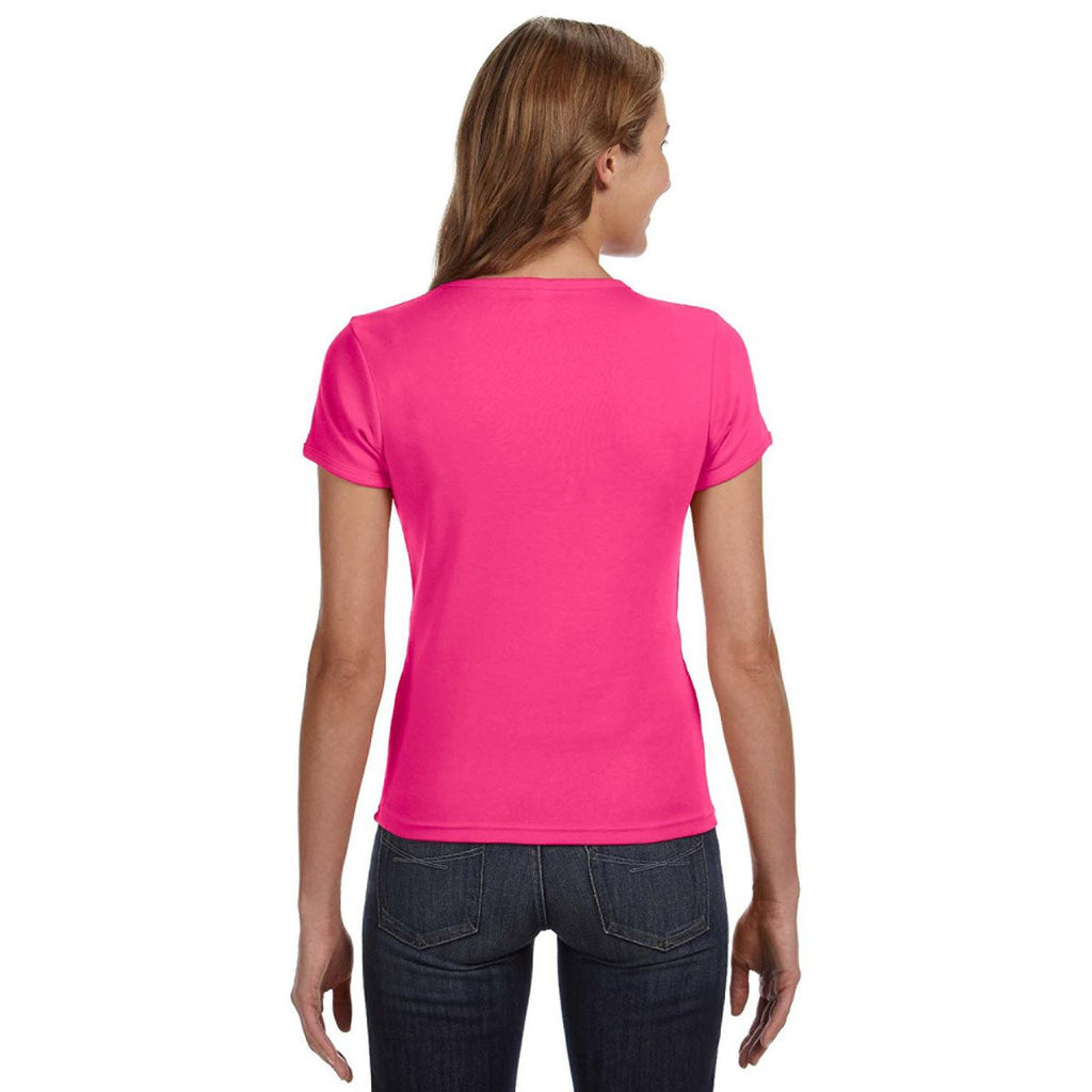 Anvil Women's Hot Pink Scoop T-Shirt