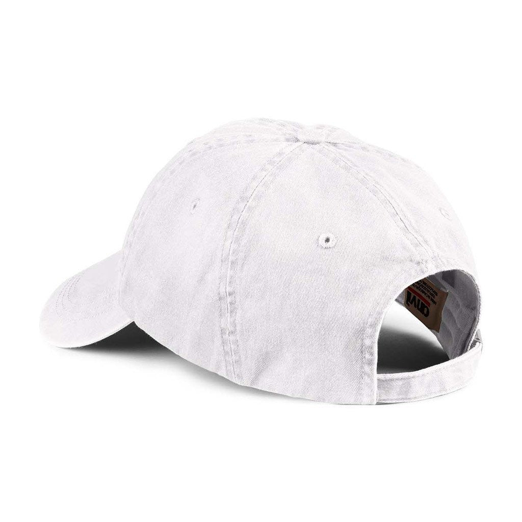 Anvil White Solid Low-Profile Pigment-Dyed Cap