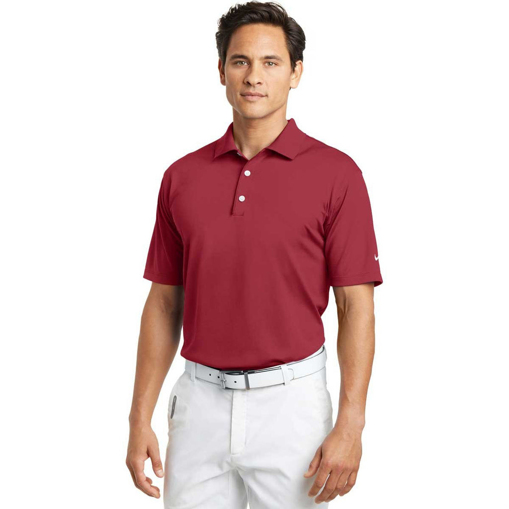 Nike Men's Red Tech Basic Dri-FIT S/S Polo