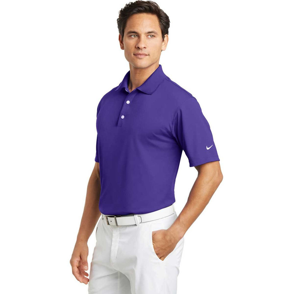 Nike Men's Purple Tech Basic Dri-FIT S/S Polo