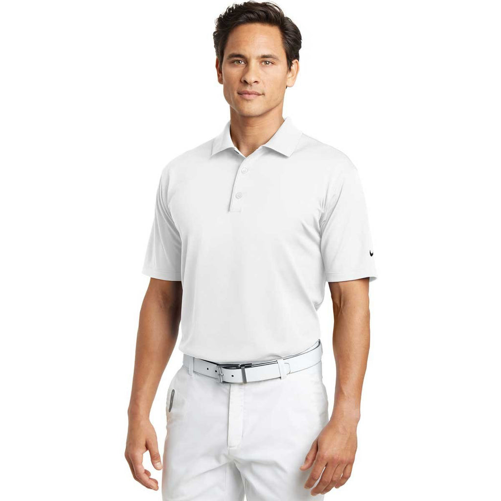 Nike Men's White Tech Basic Dri-FIT S/S Polo