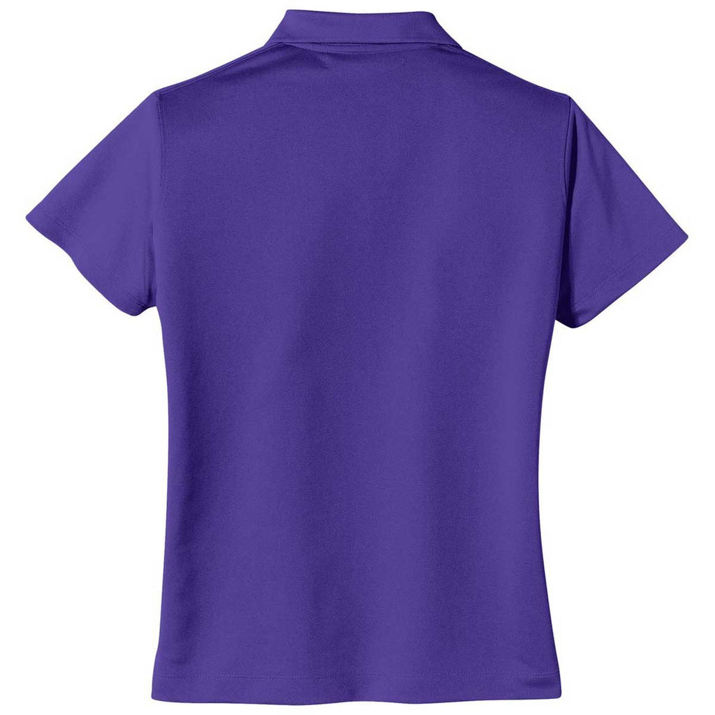 Nike Women's Purple Tech Basic Dri-FIT S/S Polo