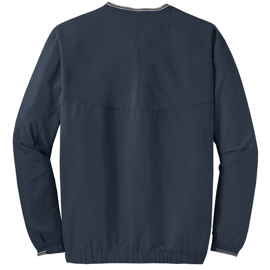 Nike Men's Navy V-Neck L/S Wind Shirt