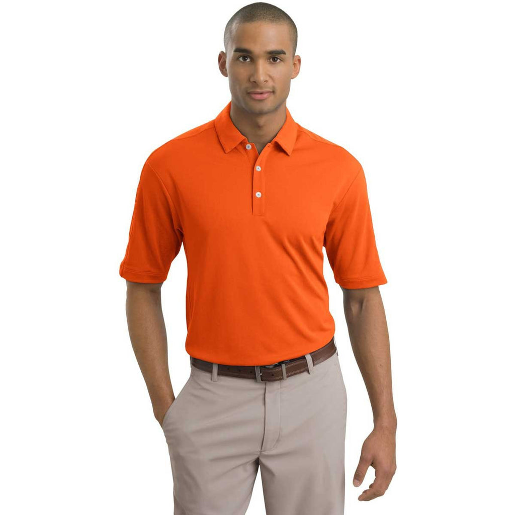 Nike Men's Orange Tech Sport Dri-FIT S/S Polo