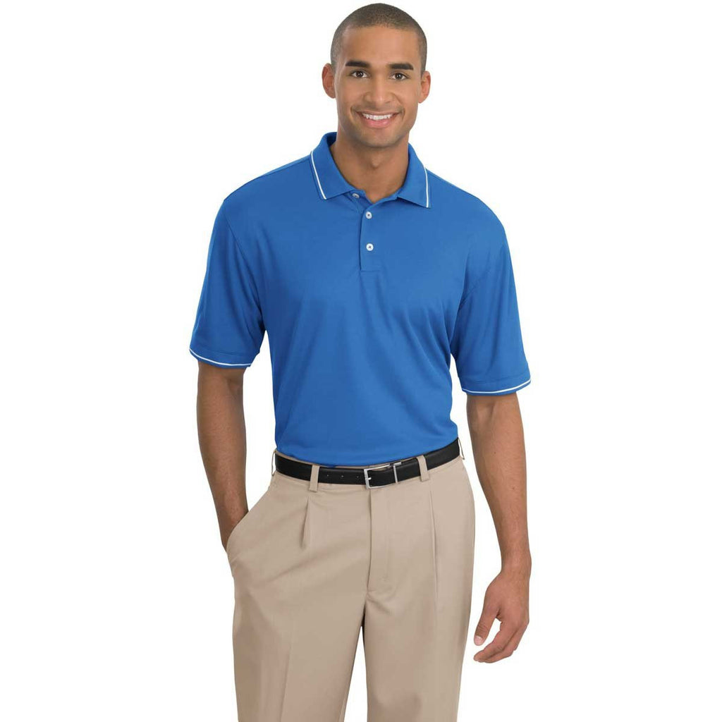 Nike Men's Pacific Blue Dri-FIT S/S Classic Tipped Polo