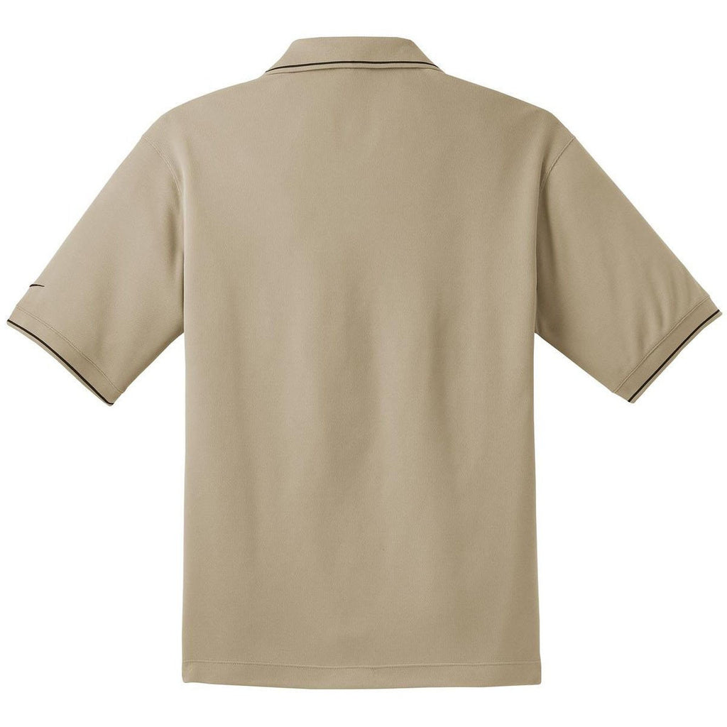 Nike Men's Beige Dri-FIT S/S Classic Tipped Polo