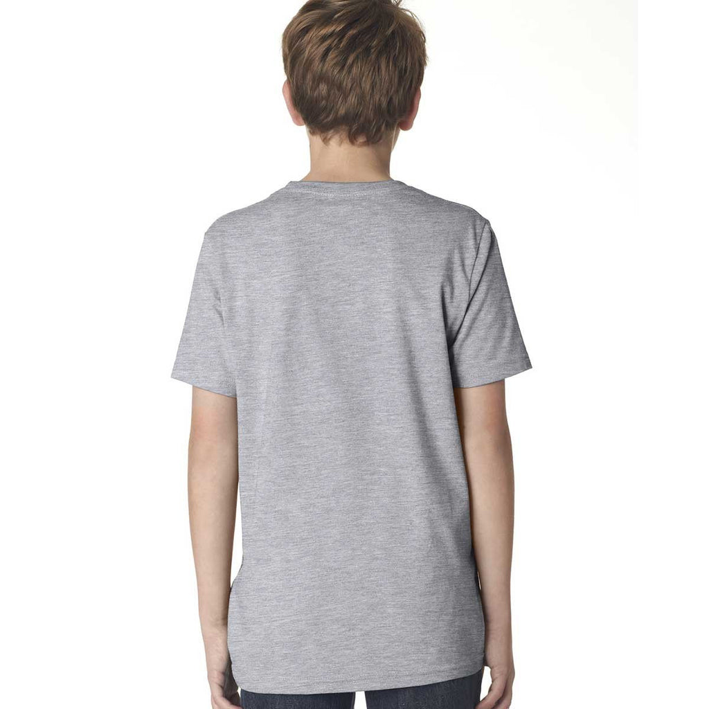 Next Level Boy's Heather Gray Premium Short-Sleeve Crew Tee