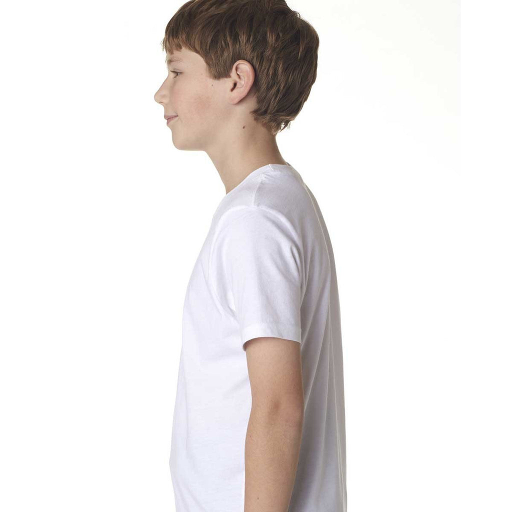 Next Level Boy's White Premium Short-Sleeve Crew Tee