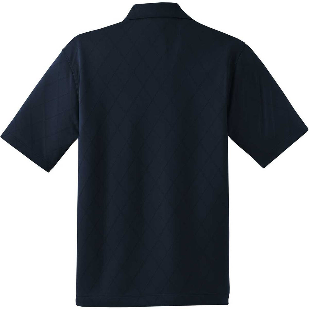Nike Men's Navy Dri-FIT S/S Cross-Over Texture Polo