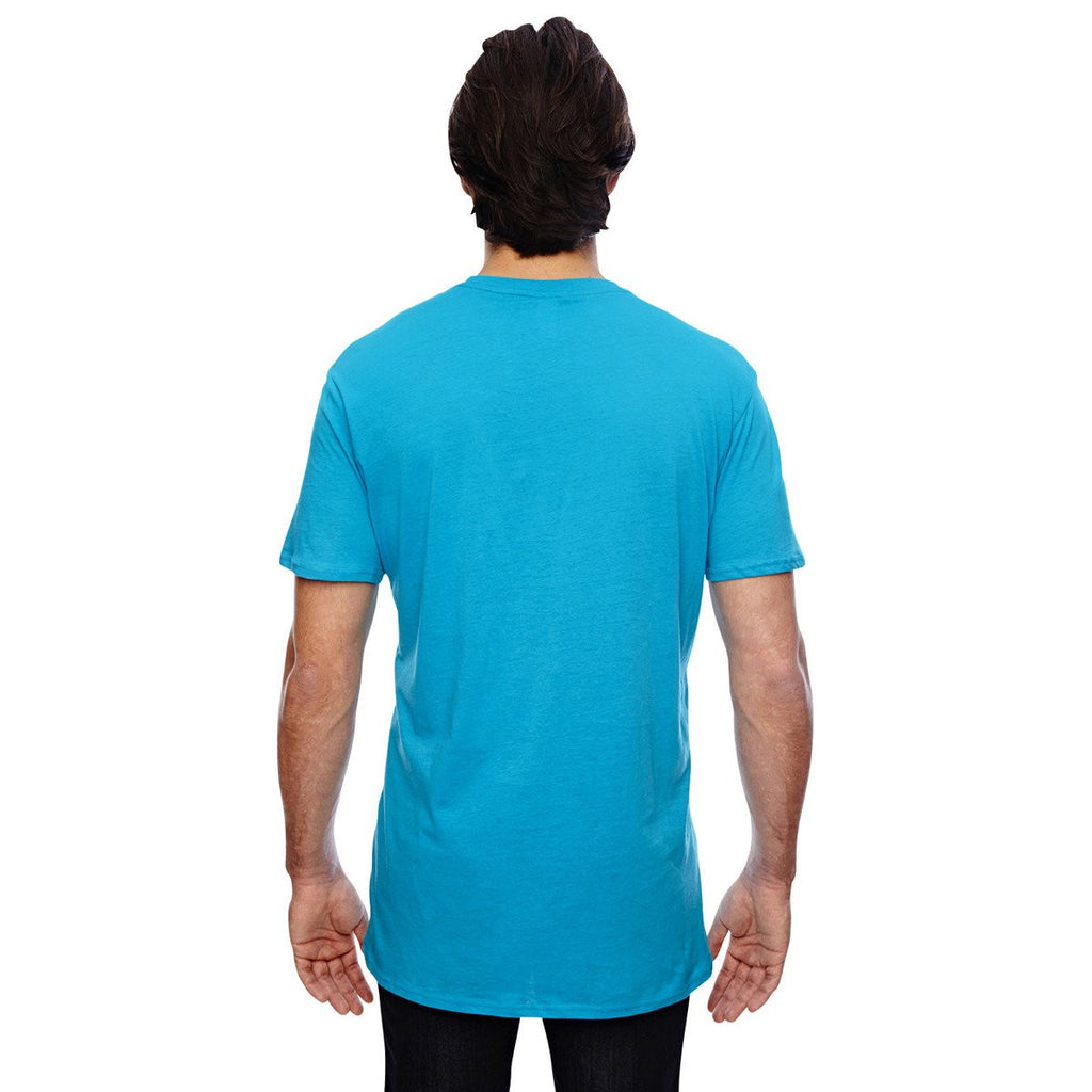 Anvil Men's Caribbean Blue 3.2 oz. Featherweight Short-Sleeve T-Shirt
