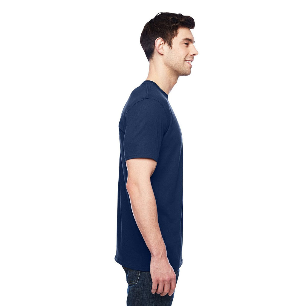 Anvil Men's Navy 3.2 oz. Featherweight Short-Sleeve T-Shirt