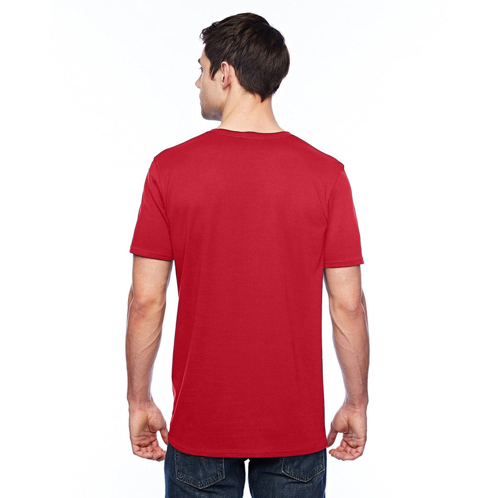 Anvil Men's Red 3.2 oz. Featherweight Short-Sleeve T-Shirt