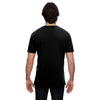 Anvil Men's Black 3.2 oz. Featherweight Short-Sleeve V-Neck T-Shirt