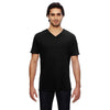 352-anvil-black-v-neck-tee