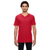 352-anvil-red-v-neck-tee