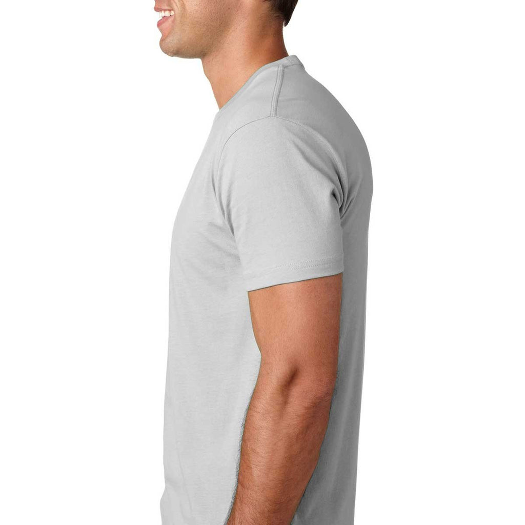 Next Level Men's Light Gray Premium Fitted Short-Sleeve Crew