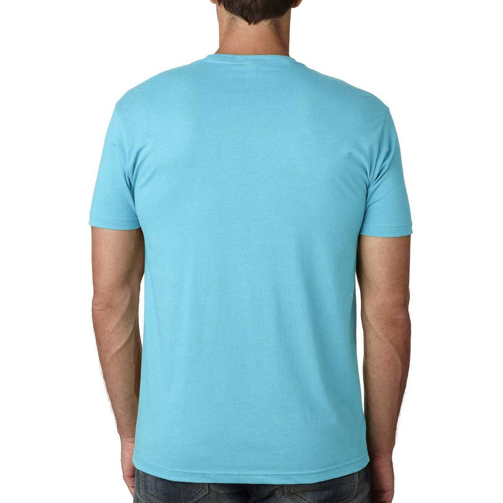 Next Level Men's Tahiti Blue Premium Fitted Short-Sleeve Crew