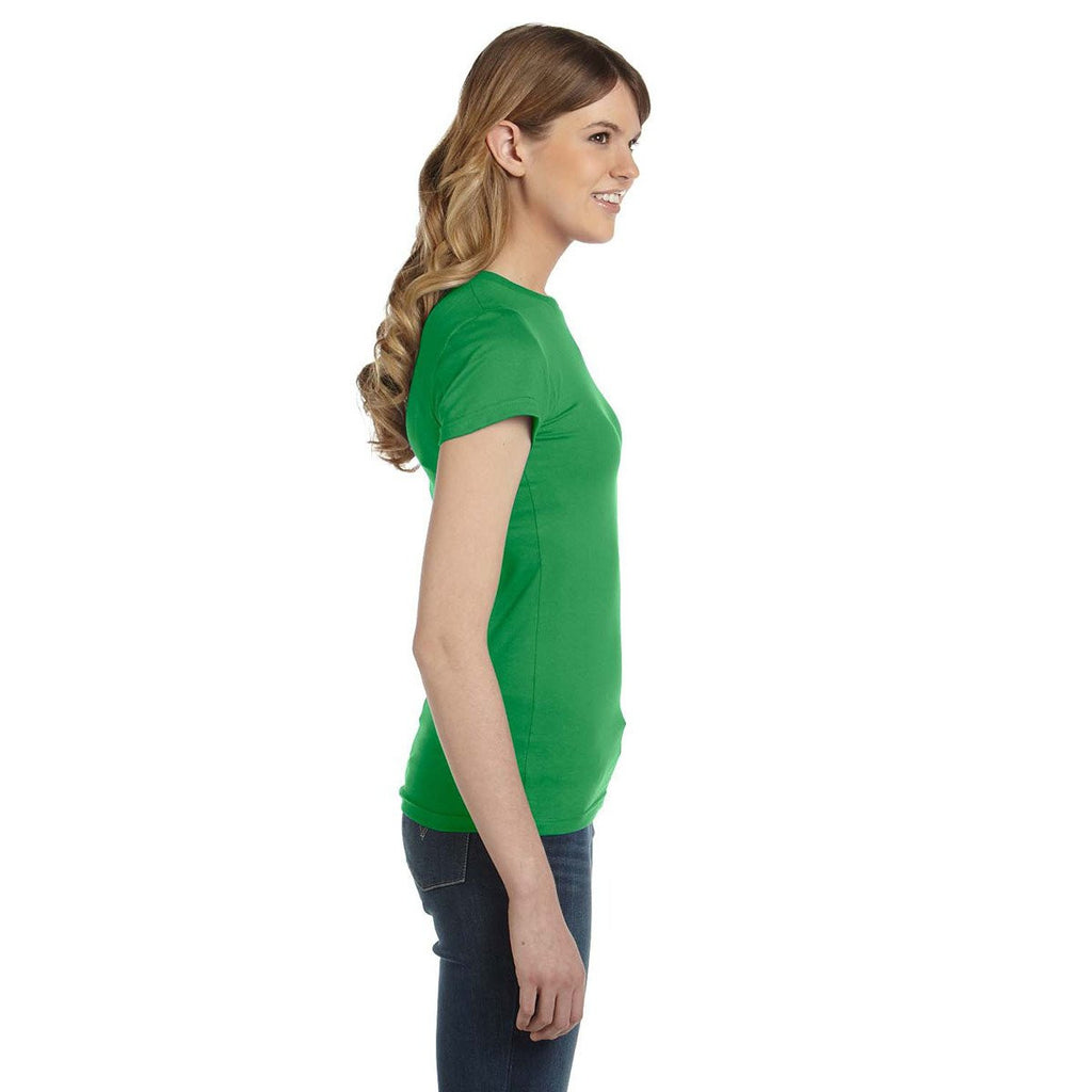 Anvil Women's Green Apple Ringspun Fitted T-Shirt