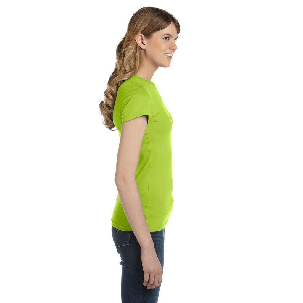 Anvil Women's Key Lime Ringspun Fitted T-Shirt
