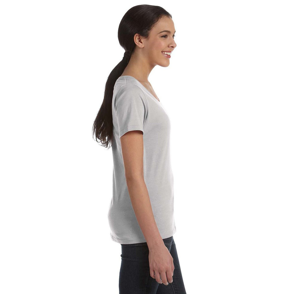 Anvil Women's Silver Ringspun Sheer Featherweight T-Shirt