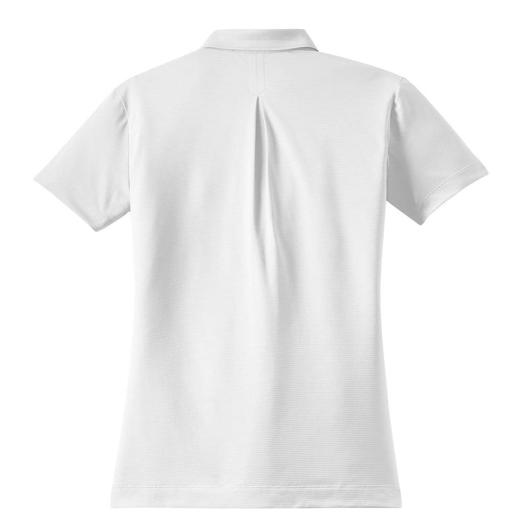 Nike Women's White Elite Dri-FIT S/S Ottoman Polo