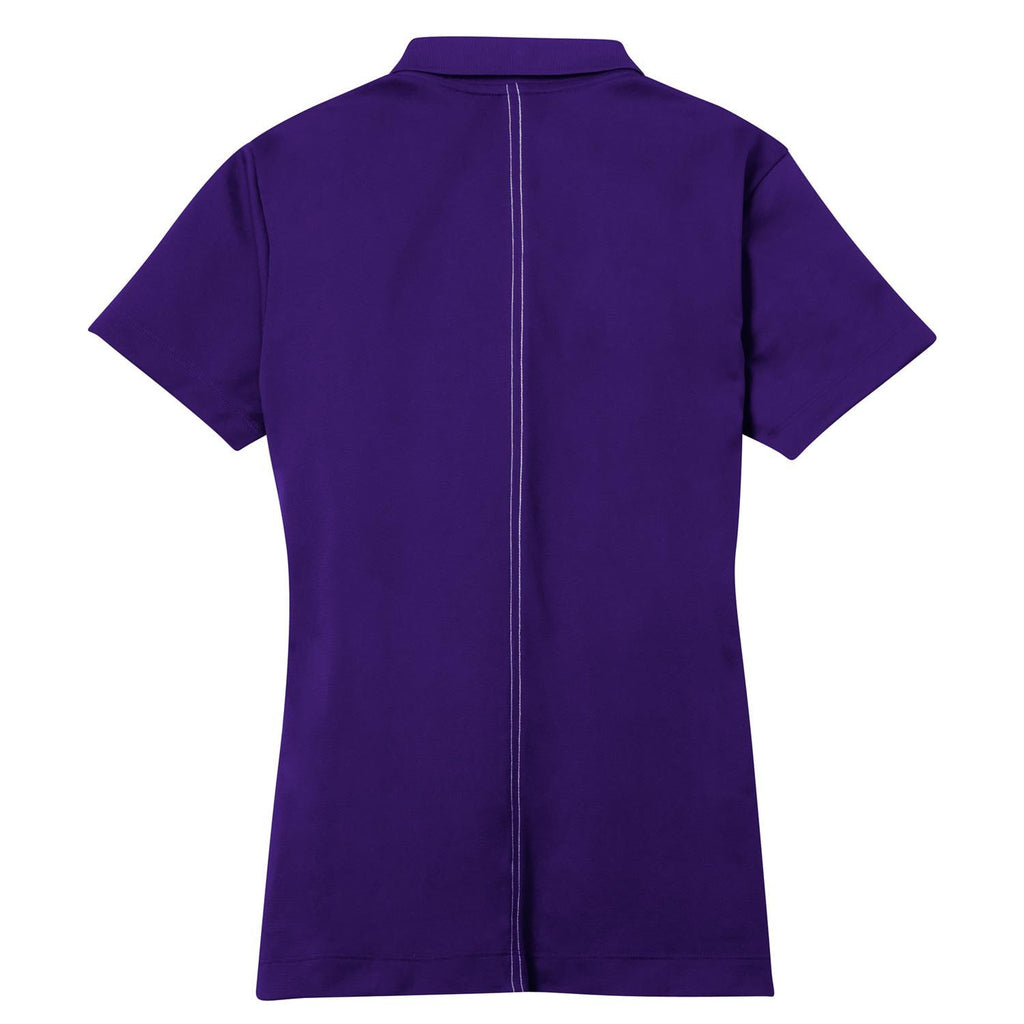 Nike Women's Purple Dri-FIT S/S Sport Swoosh Pique Polo